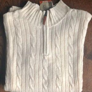 Columbia Men's Cream Half-Zip Sweater